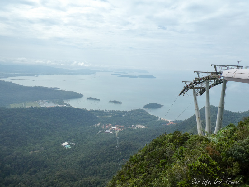 view from langkawi cable car